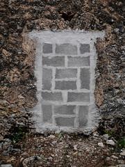 New and Old, Lenola (Robert Barone) Tags: wall lenola italy italia panasoniclumixdmcgm1 lumix20f17 panasonic20mmf17 micro43s cinderblock