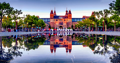 RIJSMUSEUM (apersyannick) Tags: rijksmuseum amsterdam architecture architecturephotography architectuur water long exposure night evening summer sunset