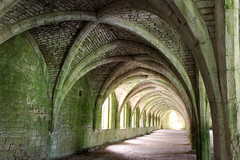 Fountains Abbey Undercroft2 (ir0ny) Tags: fountainsabbey nationaltrust studleyroyalwatergardens studley watergardens yorkshire cellarium undercroft arches