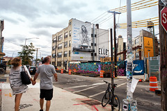 Bushwick, Brooklyn (Always Hand Paint) Tags: b179 zico zicoprogress kristamlindahl ooh outdoor colossalmedia alwayshandpaint skyhighmurals advertising colossal handpaint mural muraladvertising retail