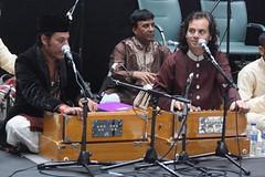 London Mela (2016) 27 - Hussain Brothers Qawwali (KM's Live Music shots) Tags: worldmusic greatbritain sufimusic qawwali hussainbrothersqawwali harmoniumsouthasian harmonium londonmela thedrumatwembley