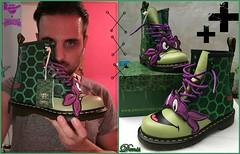 dr martens ninja turtles (mon monde a moi il n'y aurait que des divagations) Tags: drmartens doc martens boots vert ninja turtles shoes chaussure