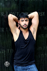 Ahmad (Levi Smith Photography) Tags: man mens fashion beard tank top armpit middle eastern arab arabian handsome hot arms biceps muscle model gravestone