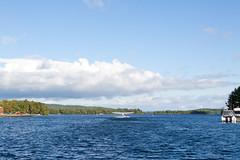 Moosehead Lake with departing seaplane (jbp274) Tags: greenville 52b greenvilleseaplaneflyin flyin lake water mooseheadlake airplanes seaplane floatplane