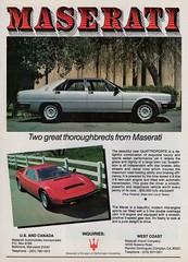 1981 Maserati Quattroporte & Merak (aldenjewell) Tags: 1981 maserati quattroporte merak sedan ad