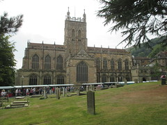 Great Malvern Priory views. (aitch tee) Tags: greatmalvernpriory historicbuilding ancientrelic architecture building graves headstones tombs