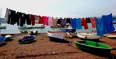 Hung out to dry (Hugo D'luvly) Tags: sony xperiaz england uk devon phone teignmouth boats seaside