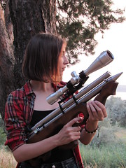shooter (vladimir_chernenkho) Tags: pcp rifle airrifle hanter hunting hunt huntingrifle waepon gun huntinggun huntingweapon womanhunting    girlshooting womanshooter womanweapon girlgun girlweapon girlrifel hunter airgun airgunhunting shooter shooting target targetshooting ukraine  outdoor   riflescope greyhound borzoi  bow compound archery bowhunting arrow people
