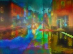 We love a rainy night. . . (boriches) Tags: rain reflections city streets