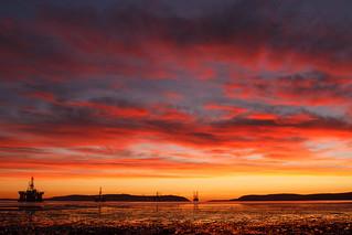 Sunrise. Cromarty Firth, Scotland.