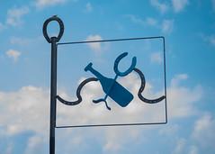 (_ormolu) Tags: sky silhouette horseshoe sign metal