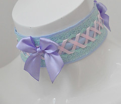 Fairy queen - choker (ceressiass) Tags: lolita cute kitten play kittenplay costume cosplay ddlg princess lovely pastel colourful colorful fairy kei nekollars ceress potan choker necklace collar accessories etsy handmade kawaii with bell neko girl lilac lavender green blue baby girly