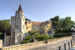 Palace of the Counts of Castro Guimares (Tony Shertila) Tags: 20160814101922 cascais geo:lat=3869174663 geo:lon=942144692 geotagged lisboa portugal prt santamarta europe outdoor weather day clear sky building structure architecture condecastroguimares sansebastiantower