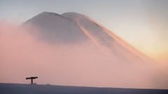 Under the Shadow of Giant (blue polaris) Tags: new zealand tongariro national park alpine crossing landscape sunset cloud volcano mt mount ngauruhoe