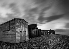 kingsdown (richard carter...) Tags: longexposure blackandwhite seascape beach clouds kent kingsdown bigstopper