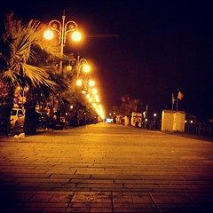 Foinikoudes At Night! (steliosgiorgio) Tags: light beach night square cyprus squareformat larnaca finikoudes   iphoneography instagramapp xproii uploaded:by=instagram foursquare:venue=4e346f1d7d8b0c62b2c9db2f