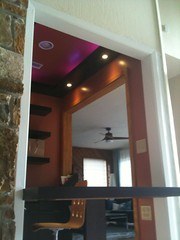 (julien.meyrat) Tags: light color wetbar lights office july led cover strip puck custom rockwall 2012 wenge veneer millwork downlights