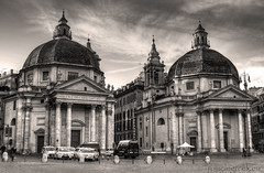 """piazza del Popolo, twin churches • <a style=""""font-size:0.8em;"""" href=""""http://www.flickr.com/photos/89679026@N00/7566824902/"""" target=""""_blank"""">View on Flickr</a>"""