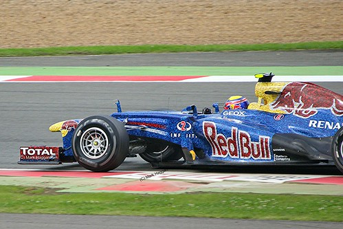 Mark Webber's Red Bull at Silverstone