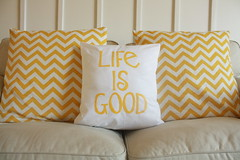 appliqued pillow (sewinluv) Tags: sewing pillow applique lifeisgood couchpillow