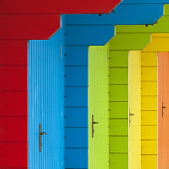 Colour Stacking... (Lady Haddon) Tags: scarborough beachhuts 2012 scarboroughbeachhuts jul2012