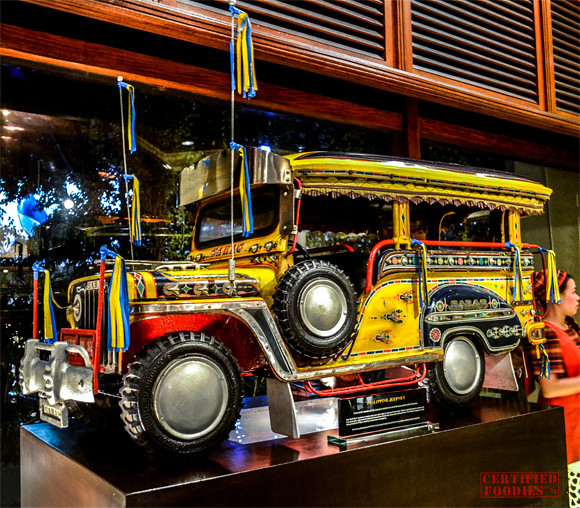 Miniature SARAO jeep inside Cafe Jeepney