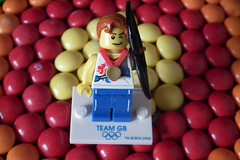 Team GB Archery (Paranoid from suffolk) Tags: candy lego sweets archery minifigs olympics archer skittles 2012 minifigures teamgb