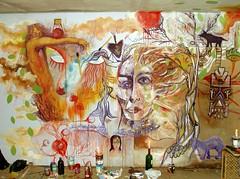 se salvan, los libros y las almas. (Felipe Smides) Tags: mural alma cuerpos incendio almas pintura kaos valdivia cariños incendios smides felipesmides lxscabrxs