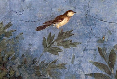 Painted Garden, Villa of Livia, detail with bird