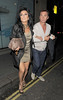 Nancy Dell'Olio and Bruno Tonioli out and about in Mayfair together. London, England