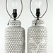 390. Pair of Blanc-de-Chine Reticulated Porcelain Table Lamps