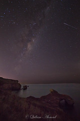 Make a wish! (QallamAhmad) Tags: newzealand beach canon way stars island south sigma tunnel galaxy dunedin shooting milky 1020