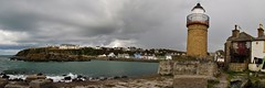 Portpatrick Harbour Panorama (Jani Helle) Tags: panorama lighthouse scotland harbour portpatrick southpier dumfriesandgalloway oldlighthouse portpatrickharbour portphdraig september2011 portpatrickpanorama