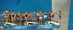 Olympic Diving 3m Springboard - Warmup 2 (kappacygni) Tags: swimming diving olympics springboard london2012 aquaticscentre sharleenstratton womens3mspringboard