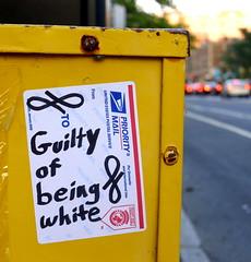 Guilty of being white (-Curly-) Tags: streetart art graffiti sticker stickerart curly