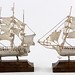 S65. Pair of Mexican Sterling Ship Models