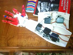 Right Motors & Ligaments (bstott) Tags: hand arm fingers right messy assembly inmoov