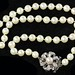 4026. Pearl Necklace with Gold and Diamond Clasp