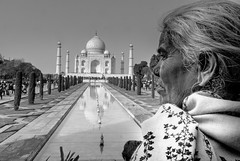 Two white(s) (knowsnotmuch) Tags: taj tajmahal agra oldlady 1224 explored ohhaiflickrpeople overzealouscrop