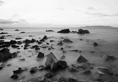 protruding rocks (Wendy:) Tags: longexposure howth monochrome evening wideangle le 1740mm hitech sandycove dublinbay nd400 bej worldwidelandscapes reversegradfilter