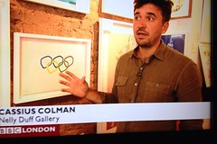 Toasters Olympic print on BBC news (The Toaster) Tags: london olympic everywhere 2012 toasters london2012 screenone