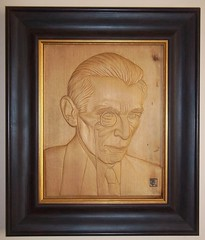 Wood carved portrait of Quaid-e-Azam in Bas relief by Khalil Najmi (Khalil Najmi Medallion Portrait Artist) Tags: wood pakistan portrait metal for coin die artist pattern state ministry mint bank carving medal ali relief governor cast medallion government reverse mould striking brass bas shaikh abdul mohammad minister finance jinnah najmi khalil reduction proposed hafeez quaideazam