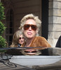 Sharon Stone leaves the Ritz hotel to head to the Charles de Gaulle International Airport. On the way, she stopped to see director Regis Wargnier to say goodbye Paris, France