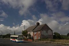 An Englishman's Home (georgeupstairs) Tags: house bus flag demolition birkenhead dennis saloon dart slf 841 riverstreets avonbuses ilchesterroad t841cck expressspeke