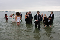 BlackTieBeach 119 (ittoku.lee) Tags: black castle beach water boston sand warmth tie suit tuxedo sos splash society tux revere spontaneity societies bostonsos