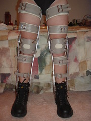 Boots and Braces Standing with Legs Slightly Parted (KAFOmaker) Tags: sexy leather metal fetish high shoes highheels braces boots sandals bondage heels cuff buckle brace sandal cuffs buckles restraints bracing restraint orthopedics kafo orthopedic cuffed braced buckled orthotics orthotic bootsandbraces