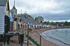 Torquay beach huts (Jainbow) Tags: beach abbey torre head huts devon sands torquay corbyn jainbow