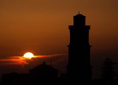 Brucia la città! (angyair74) Tags: italy orange sun tower nikon italia tramonto campanile nikkor sole salento puglia 200mm susent squinzano nikonclubit