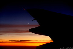 Moonrise over Balochistan. (Syed Sarmad Bukhari) Tags: sunset moon plane dusk moonrise
