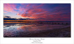 Reaching Out (Mathew Courtney) Tags: sunset water clouds long jetty lakes tuggerah